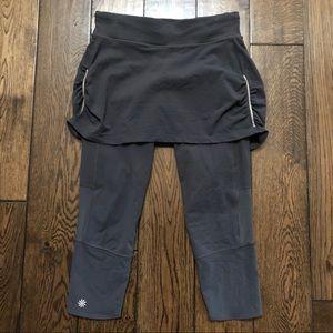 Athleta Skirt Capri Tights Small Grey